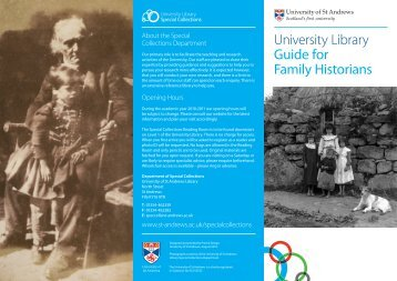 Family Historians - University of St Andrews