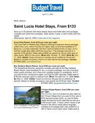 Saint Lucia Hotel Stays, From $133 - Coco Palm