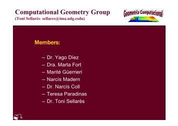 Computational Geometry Group (Toni Sellarès - UdG