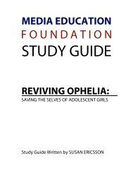 Reviving Ophelia - Media Education Foundation