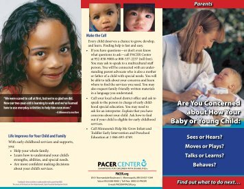 Are You Concerned about How Your Baby or ... - PACER Center