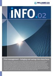 Print management – bringing cost savings into sharp ... - Williams Lea