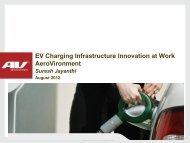 EV Charging Infrastructure Innovation at Work AeroVironment