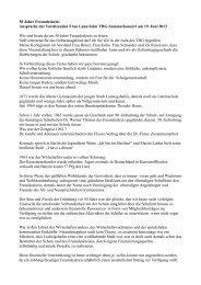 50 Jahre Freundeskreis Ansprache der Vorsitzenden Frau Laun ...
