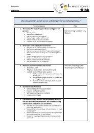 Wie steuert man gezielt einen selbstorganisierten Arbeitsprozess?