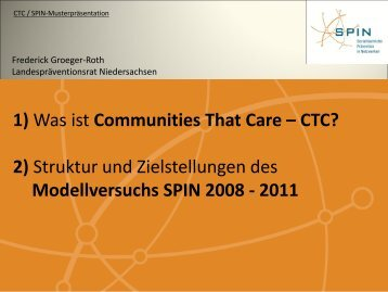 und Schutzfaktoren - Communities That Care - CTC