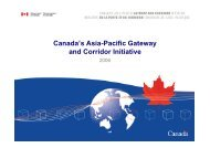 The Status of Canada's Asia Pacific Gateway and Corridor Initiative