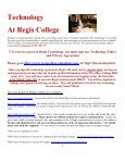 Welcome! Thank you for choosing Regis College to pursue your ... - Page 2