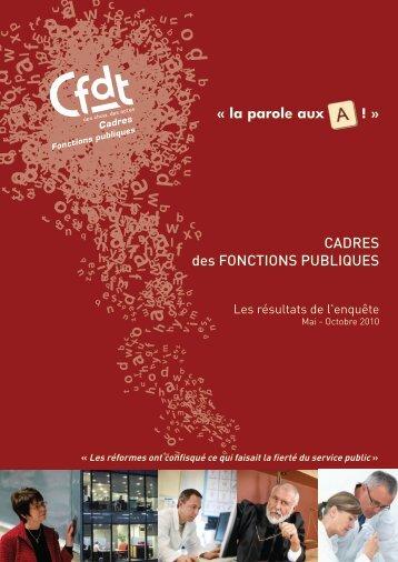 CADRES des FONCTIONS PUBLIQUES - CFDT
