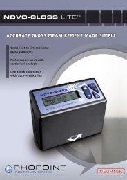 novo-gloss lite™ accurate gloss measurement made simple - Neurtek