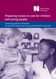Preparing nurses to care for children and young people. (PDF ... - RCN