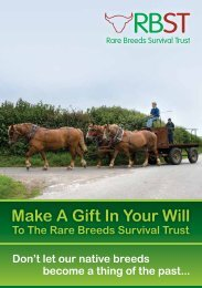 Legacy Leaflet - Rare Breeds Survival Trust