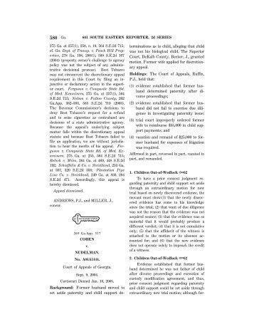 580 Ga. - Atlanta - Divorce Lawyer - Family Law - Atlanta Georgia