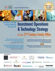 Investment Operations & Technology Strategy - Family Office Metrics ...