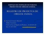 REGISTRO DE PRODUTOS DE ORIGEM ANIMAL - CRMV-PR