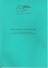 Lettre ministérielle du 15 juin 1982 relative à la ... - Ucanss
