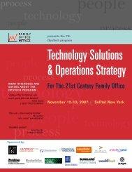 View Detailed Agenda - Family Office Metrics LLC