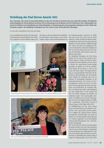 Schweizer Monatsschrift für Zahnmedizin (pdf, 428KB)