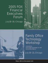 Detailed Agenda - Family Office Metrics LLC