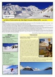 mars 2013 - Club Alpin Francais - Albertville