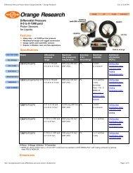Differential Pressure Piston Sensor Gauge/Switches ... - PEC-KC.com