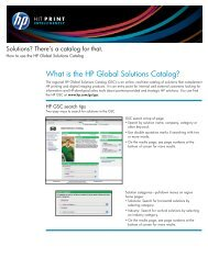 EMEA Solutions Idea Book - Solution Programs Portal - HP
