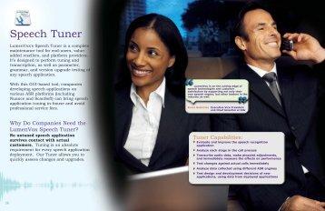 Speech Tuner - LumenVox