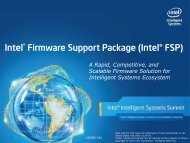 Intel® Firmware Support Package Technical Training