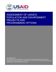 Assessment of USAID's Population and Environment ... - GH Tech