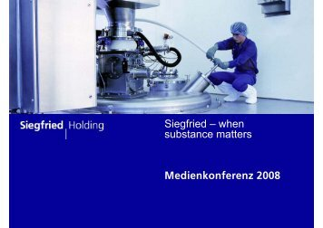 Medienkonferenz 2008 - Siegfried
