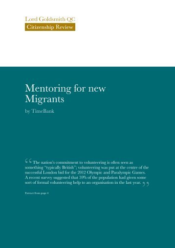 Mentoring for new migrants - Scottish Mentoring Network