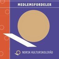 Medlemsfordeler - brosjyre - Norsk kulturskoleråd