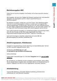 ABC der Betriebsausgaben Teil 1 - Siart und Team Treuhand GmbH