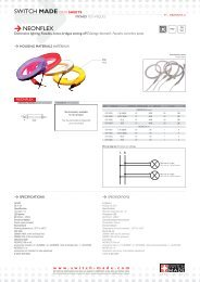 SWITCH MADE DATA SHEETS NEONFLEX