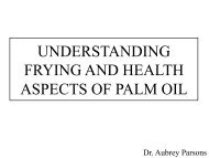 understanding frying and health aspects of palm oil - MOSTA
