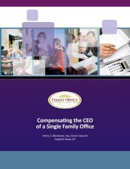 Compensating the CEO of a Single Family Office - Summitas