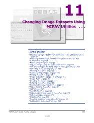 Changing Image Datasets Using MIPAV Utilities . . .
