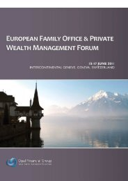 European Family Office Geneva 2011 - SwissPro Invest