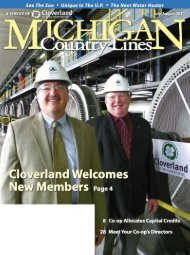 CLovErLand ELECtriC CoopErativE the - Michigan Country Lines ...