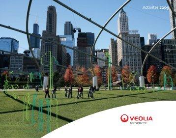 Rapport d'activités 2009 - Veolia Finance - Veolia Environnement