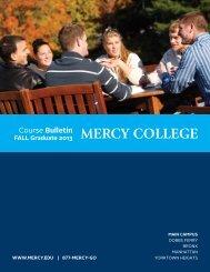 Fall 2013 Graduate Course Bulletin - Mercy College