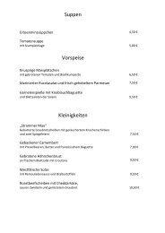 Suppen Vorspeise Kleinigkeiten - Hotel - Restaurant Westermann