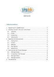 Table des matières - EMTA