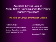 Accessing Census Data on Asian, Native Hawaiian and Other ...