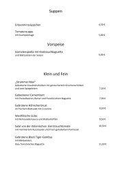 Suppen Vorspeise Klein und Fein - Hotel - Restaurant Westermann
