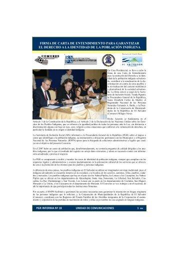 INFORMA 18.pdf - Procuraduría General de la República de El ...