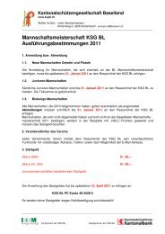 Mannschaftsmeisterschaft 2011 50 und 25 m - Pistolenklub Zwingen