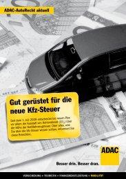 Gut gerüstet für die neue Kfz-Steuer - ADAC