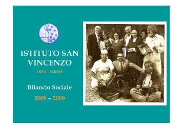 Bilancio Sociale 2008-2009 - Scuola San Vincenzo
