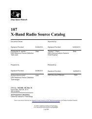 X-Band Radio Source Catalog - Deep Space Network - Nasa